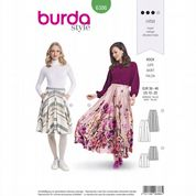 6386 Burda Pattern: Misses' Pleat Front Skirts